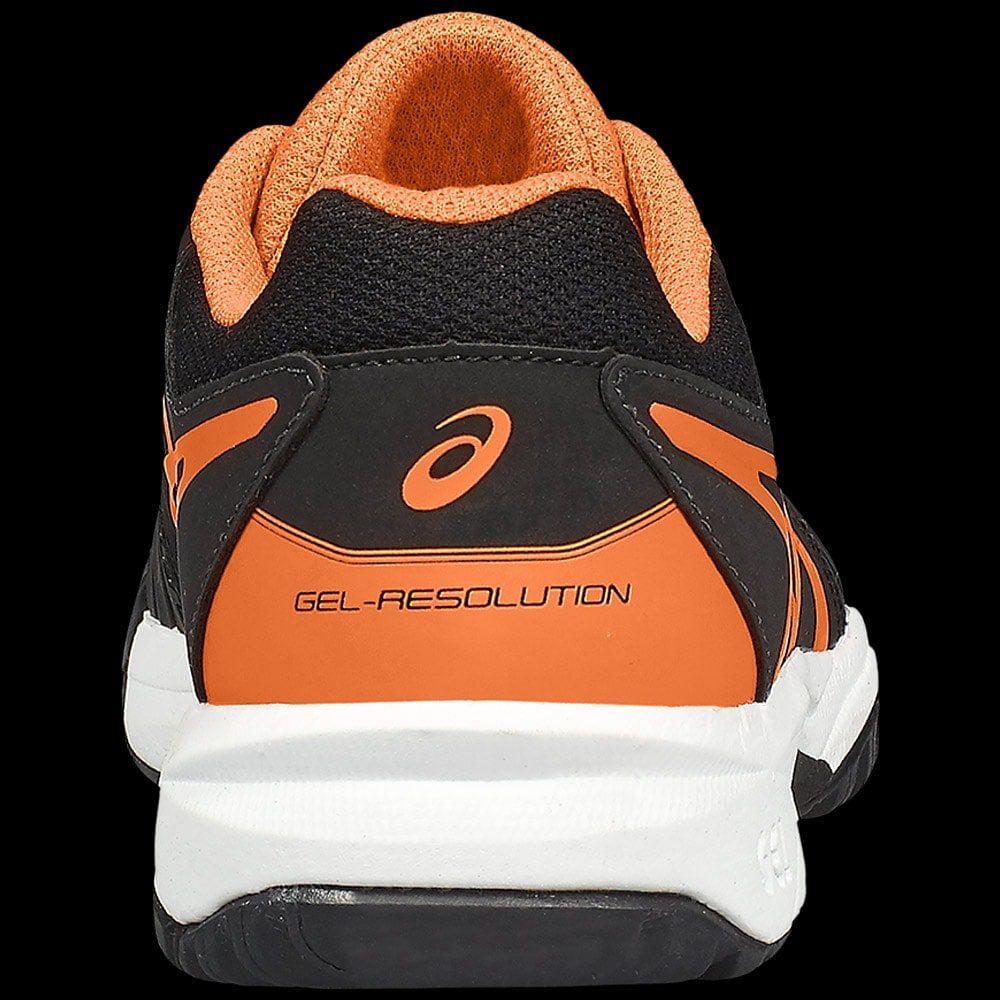 ASICS GEL RESOLUTION 7 GS JUNIOR NOIRE ORANGE - N-tennis.fr - tennis 66128ec1f7a4